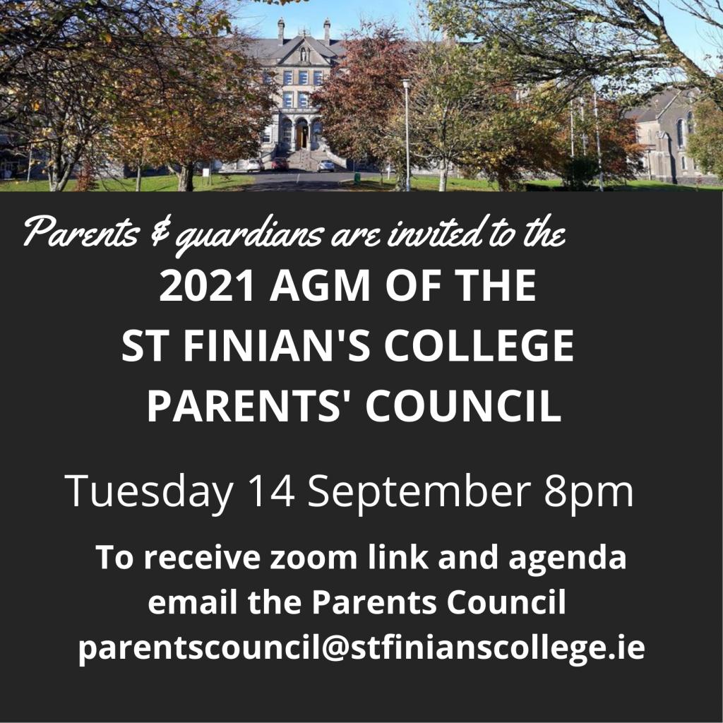 Parents'Association AGM September 14th 2021 @ 8pm